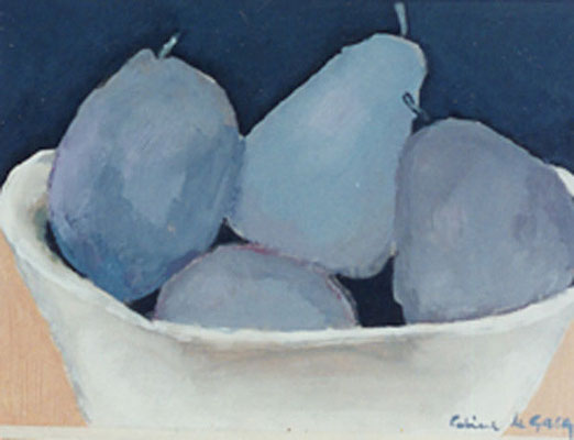 Coupe de fruits - Huile sur papier - 25x33 cm - 1993 (NAT38) VENDU