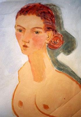 Portrait - Huile sur toile - 65x50 cm (POR11) VENDU