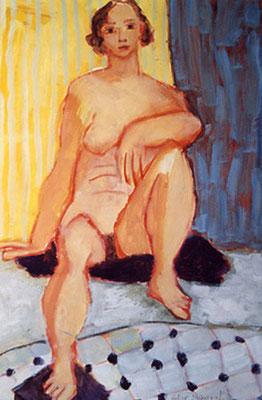 Sur un coussin noir - Huile -  65x50 cm - 2000 (MOD15)