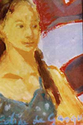 Portrait - Huile sur toile - 23x17 cm - 2000 (POR09) VENDU