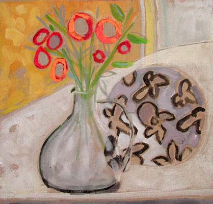 Vase - Acrylique sur toile - 50x50 cm (NAT04) VENDU