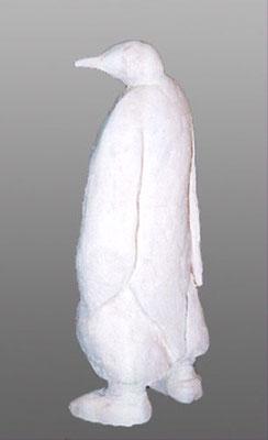 Pingouin - Terre cuite blanche - 40x17 cm (SCA04) vendu