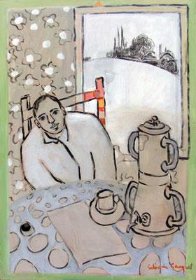 Bien au chaud - Acrylique sur toile - 118x82 cm - 2009 (MOD01) VENDU