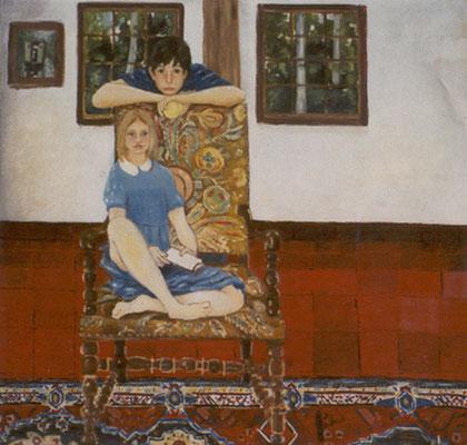 Caroline Trocmé - Huile sur toile - 100x100 cm - 2001 -  Commande (POR07)