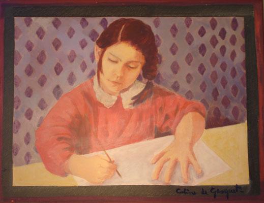 Marie - Huile sur toile - 50x65 cm () PRIVE