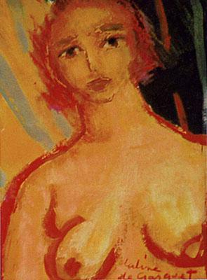 Portrait - Huile sur toile - 23x17 cm - 2000 (POR10) VENDU