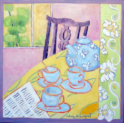 Tea time - Acrylique - 100x100 cm - 2008 (NAT35)