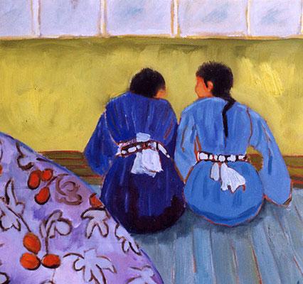 Petits secrets - Acrylique sur toile - 50x50 cm - 2002 (MOD11)