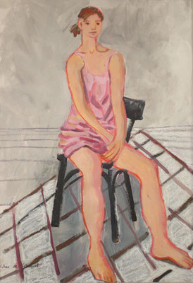 Julie - Acrylique sur papier - 65x50 cm (MOD24)