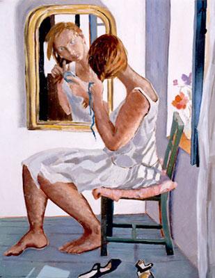 Alix Barbey - Huile sur toile - 120x80 cm - 1996 (POR12) VENDU