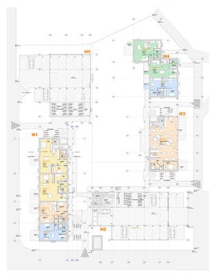 Erdgeschoss- mit PKW Ebene