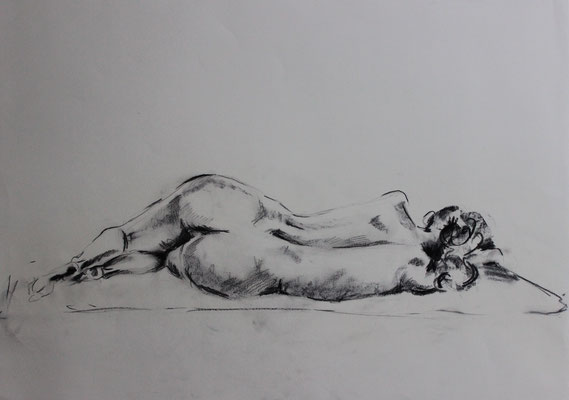 Untitled (2012). Kohle und Bleistift auf Papier.