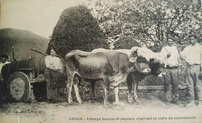 Carte postale des années 1900 qu'un peintre célèbre envoya à un ami parisien en 1920