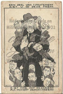 NSB briefkaart cartoonprent Provinciale Statenverkiezingen 1935