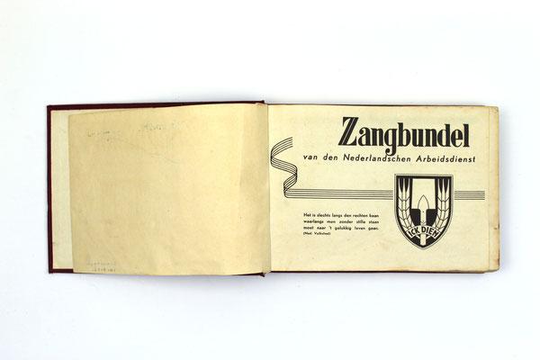 Nederlandse Arbeidsdienst Zangbundel - Dutch NSB NAD Labour Servic.