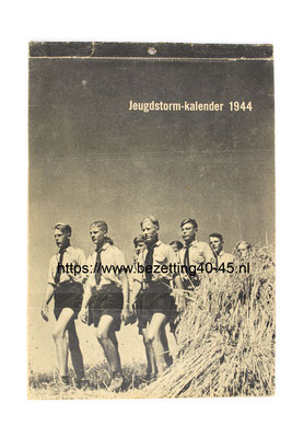 NSB Jeugdstorm Jaar (week) kalender 1944. - This is a rare Dutch NSB youth organisation calendar of the year 1944 in a great and complete condition.
