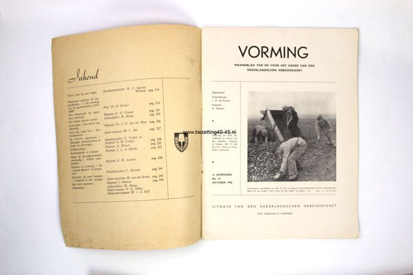 NSB-Nederlandse-Arbeidsdienst-NAD-Vorming-blad-Kader-No.10-1942-