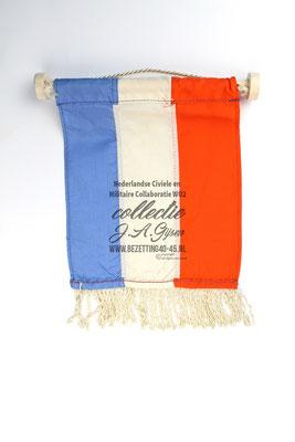 """NSB Banner Tafel Vaantje Prinsenvlag """"Oranje Blanje Bleu"""""""