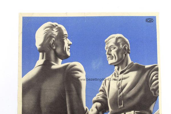 NSB Propaganda affiche ''Het Socialisme Breekt aan!''.