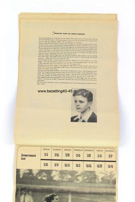 NSB Jeugdstorm Jaar (week) kalender 1944.
