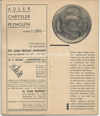 Ter illustratie, NSB brochure van 4e landdag die werd gehouden op 5 oktober 1935.