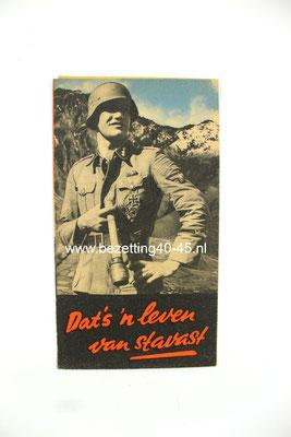 Nederlandse Waffen SS werving Brochure / Flyer / Poster ,Westland.