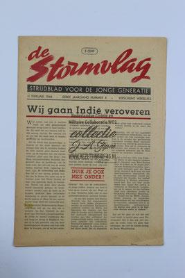 "NSB Strijd blad van de Jeugdstorm ""de Stormvlag"" 3e jaargang, nummer 4 - 11 Februari 1944."