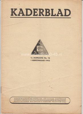 1e jaargang 1 september No. 16 - 1942