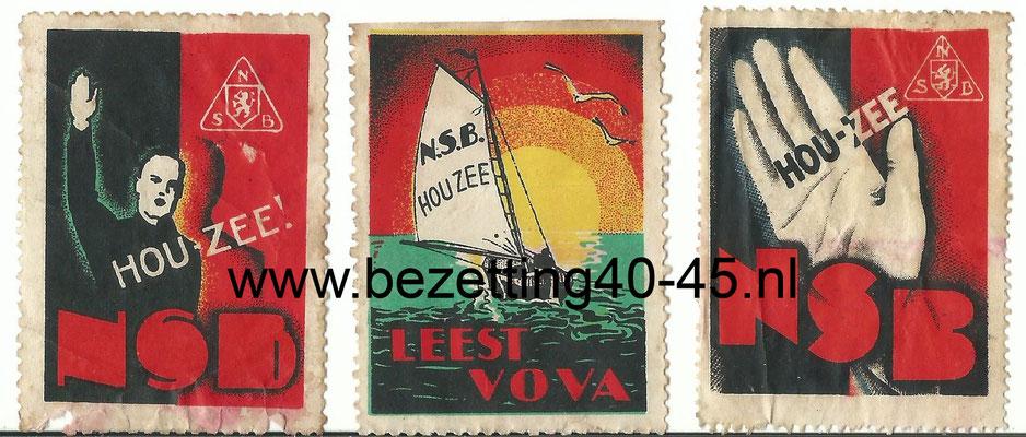 NSB Propaganda sluit zegels, Mussert - HOU ZEE - Volk en vaderland.