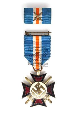 """NSB medaille """"HOU EN TROU""""  (Mussertkruis)   ( NSB Badge Pin Medal )"""