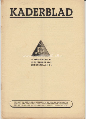 1e jaargang 15 september No. 17 - 1942
