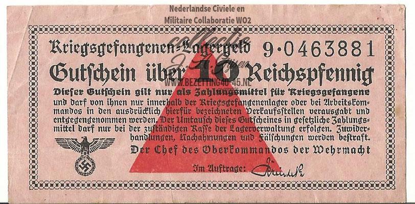 kriegsgefangenenlagergeld 10 Reichspfennig.