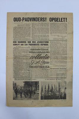 """NSB Strijd blad van de Jeugdstorm """"de Stormvlag"""" Augustus 1942."""