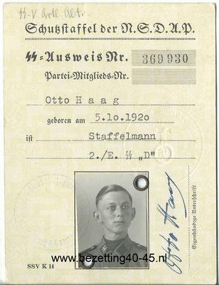 SS Ausweis Standarte Deutschland. - SS Identity Card.