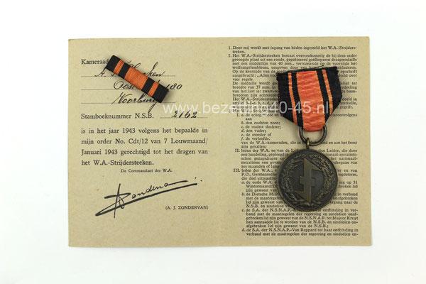 "NSB medaille (groep)  het "" W.A. Strijdersteken """