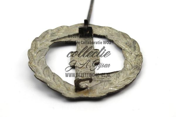 Ruil NSB WA Sport Insinge zilver, achterkant sluiting.  ( NSB Badge Pin )