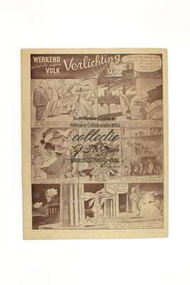 Dutch NSB Magazine Werkend Volk Nr.1 - 20 Januari 1945.