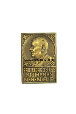 NSNAP speld: Nederlands Nationaal-Socialistische Arbeiders Partij (Majoor-Kruyt) partijdag te Nijmegen 28.07.1935