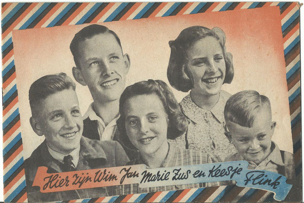 Brochure Hier zijn Wim Jan Marie Zus en Keesje Flink Jeugdstorm