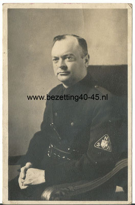 NSB portret foto Mussert photo postcard Mussert.
