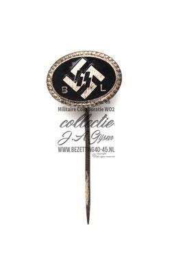 Lidmaatschap Speld Nederlandse SS (Begunstigende Leden) Dutch SS-BL Supporter's (Begunstigende Lende) Pin. Numbered on reverse. Rare förderndes mitglied der SS-BL