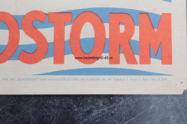 """NSB - Nationale Jeugdstorm affiche /poster """"STORMDE JEUGD""""."""
