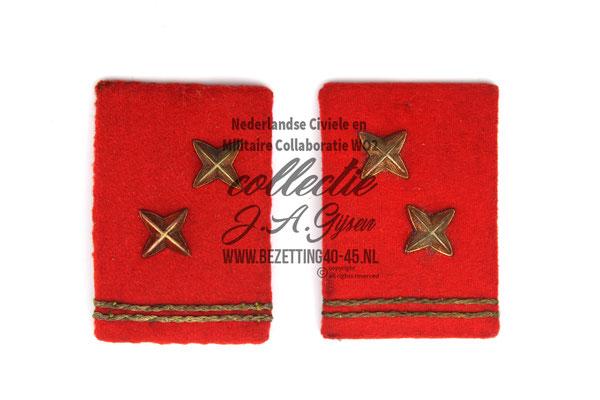 Dutch NSB Collar Tab - WA Opperkompaan kraagspiegel set.