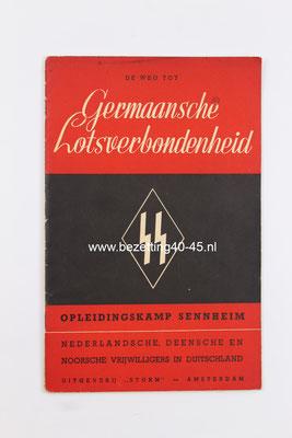 Nederlandsche-SS De-weg-tot-germaansche-lotsverbondenheid-opleidingskamp-sennheim-brochure 1941.