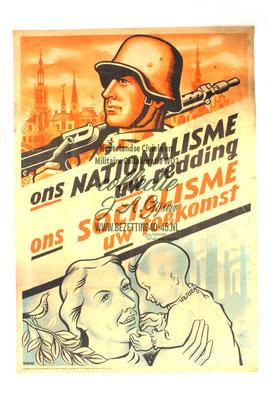 Affiche Ons nationalisme, uw redding. Ons socialisme, uw toekomst.