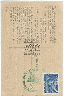 NSB Propaganda / werving postkaart Nederlandse SS - 3rd Reich Netherland Legion Germanic Waffen SS Volunteer propaganda / recruiting postcards.