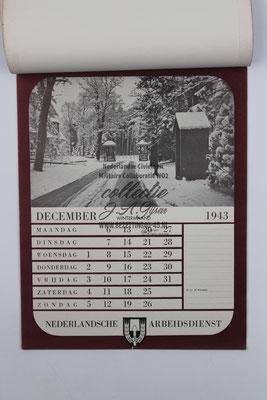 Nederlandse Arbeidsdienst NAD Kalender 1943, December.