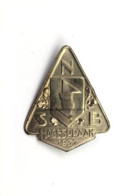 NSB Dag speld /Herinneringsspeld , 2e Hagespraak 1937.