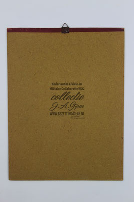 Nederlandse Arbeidsdienst NAD Kalender 1943, achterkant.