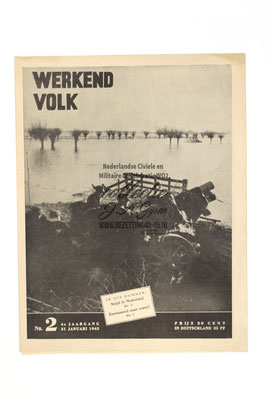 Dutch NSB Magazine Werkend Volk Nr.2 - 31 Januari 1945.